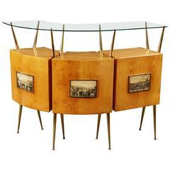 Elegant Italian Bar Cabinet