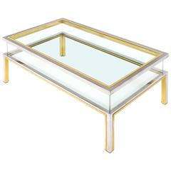 French Vintage Maison Jansen Display Coffee Table