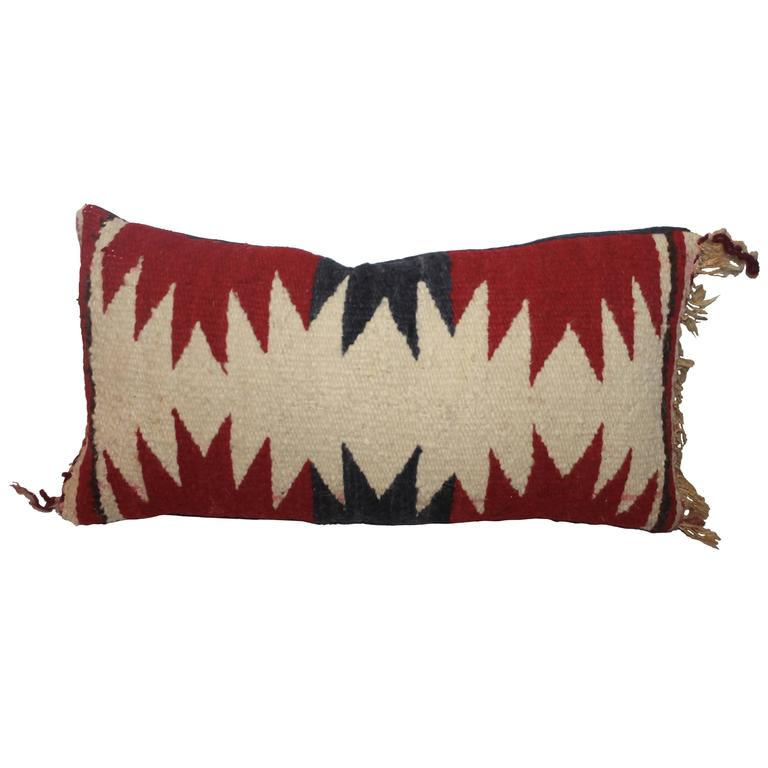 Geometric Navajo Weaving Lumbard Pillow 1