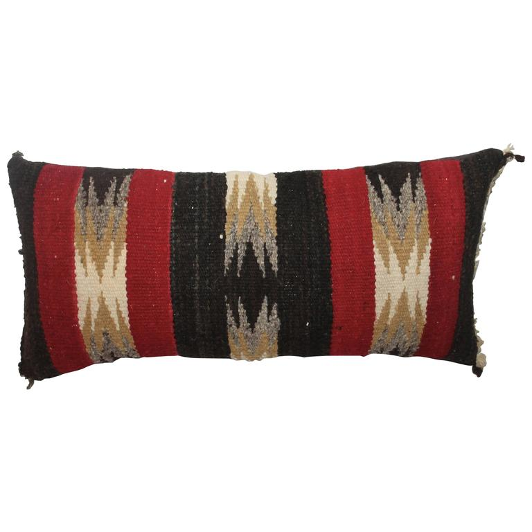Navajo Indian Weaving Lumbard Pillow 1
