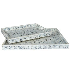 Set of Two-Tiled Bone Trays