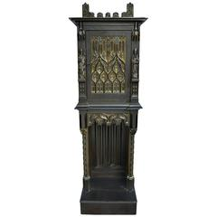 Antique Gothic Style Small Cabinet