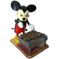 Toy Mickey Mouse Playing Xylophone, American, circa 1950s