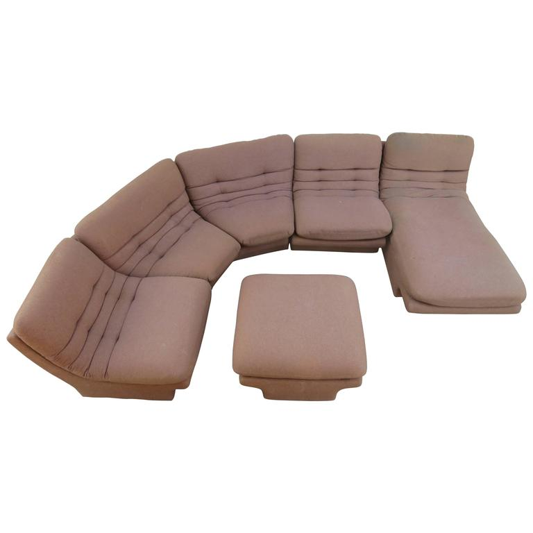 Fantastic Six-Piece Sectional Sofa by Preview For Sale