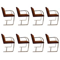 Set of Eight Knoll Brno Chairs