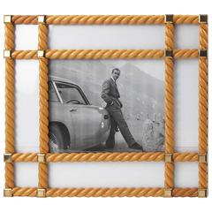 Mid-Century Modern Large Light Wood Picture Photo Frame by Noel BC, Italy