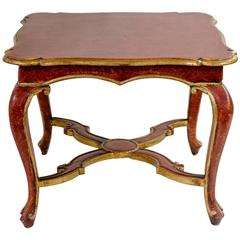 Venetian Painted Table with Gilding