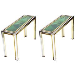 Pair of Mid-20th Century Consoles by Romeo Rega, 1970