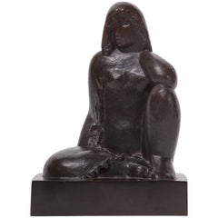 Sculpture 'Nude Sitting' by Joseph Csaky, 1929