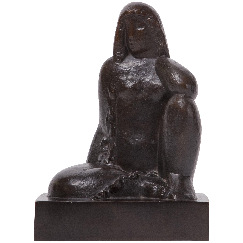 Sculpture 'Nude Sitting' by Joseph Csaky, 1929