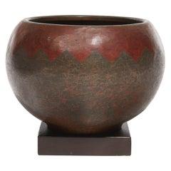 Curved Vase by Claudius Linossier, circa 1930