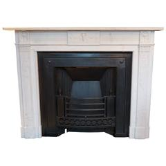 Irish antique Georgian Statuary White Marble Fireplace