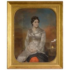 Pastel Portrait of a Lady in Gilt Frame