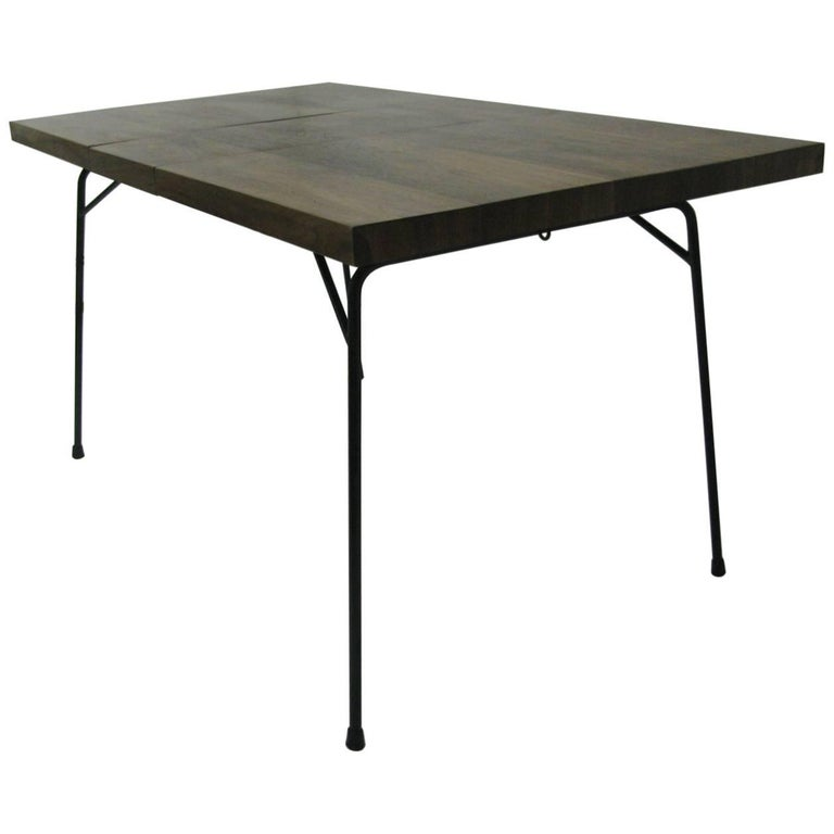 Mid-Century Modern Black Walnut and Iron Dining Table by Clifford Pascoe For Sale