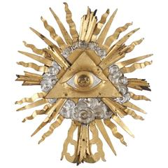Unique 18th Century Baroque Eye of Providence