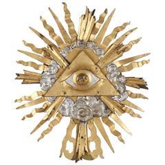 Unique 18th Century Baroque Eye of Providence