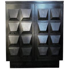 Brutalist Cabinet or Sideboard by De Coene, 1970s