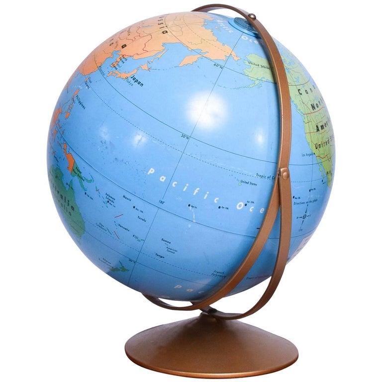 Vintage Earth Globe, circa 1950s
