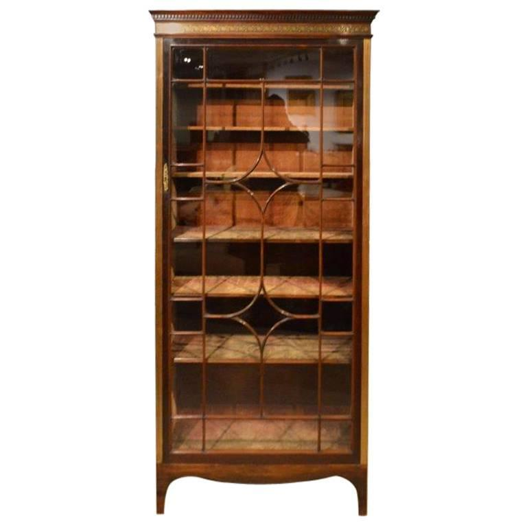 Fine Quality Brass Inlaid Rosewood Victorian Period Display Cabinet 1