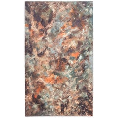 Mid-Century Modern Abstract Oil in Canvas