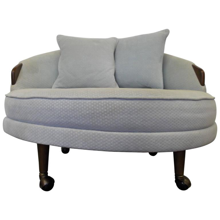 Adrian Pearsall Havana Round Lounge Chair For Sale
