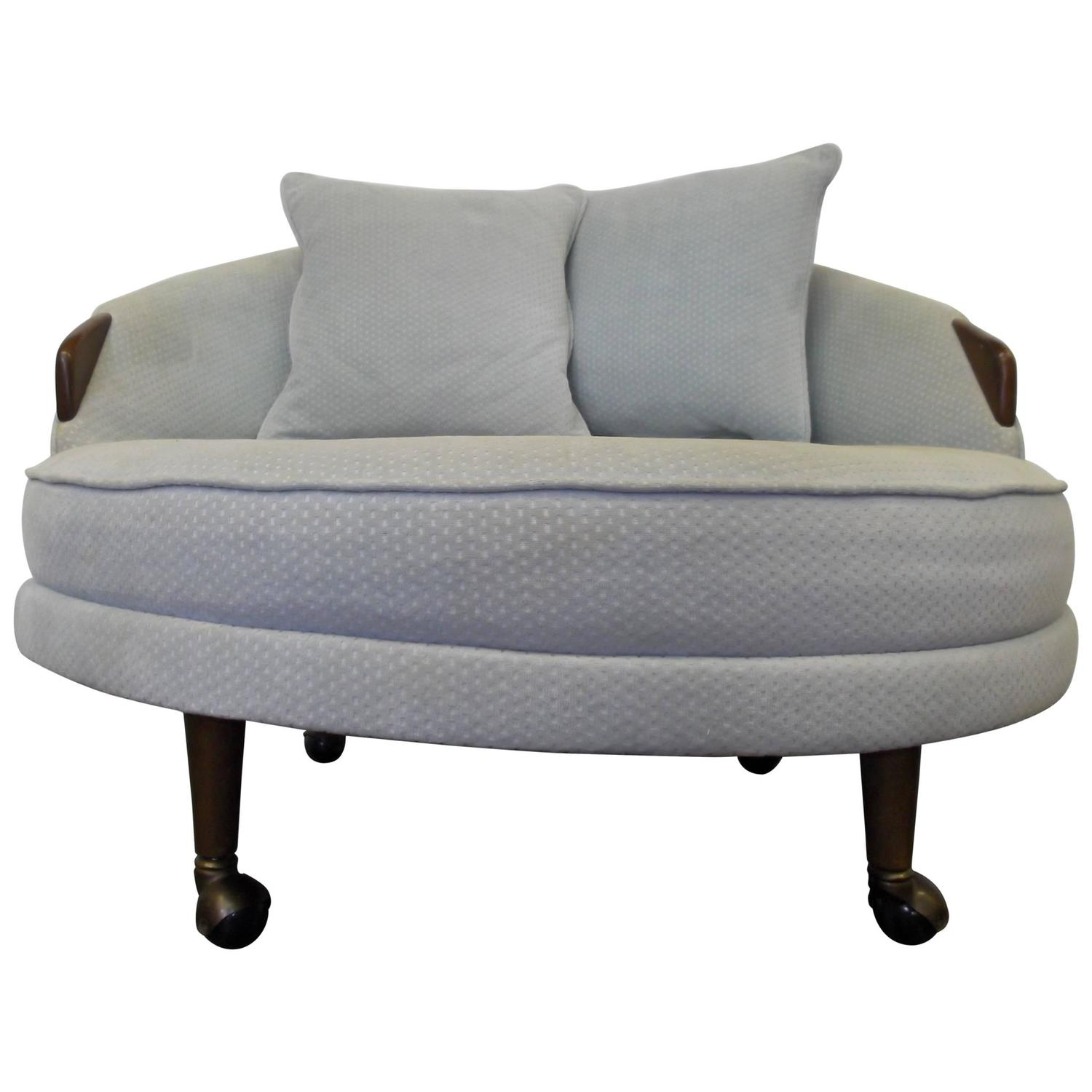Antique lounge chairs - Adrian Pearsall Havana Round Lounge Chair