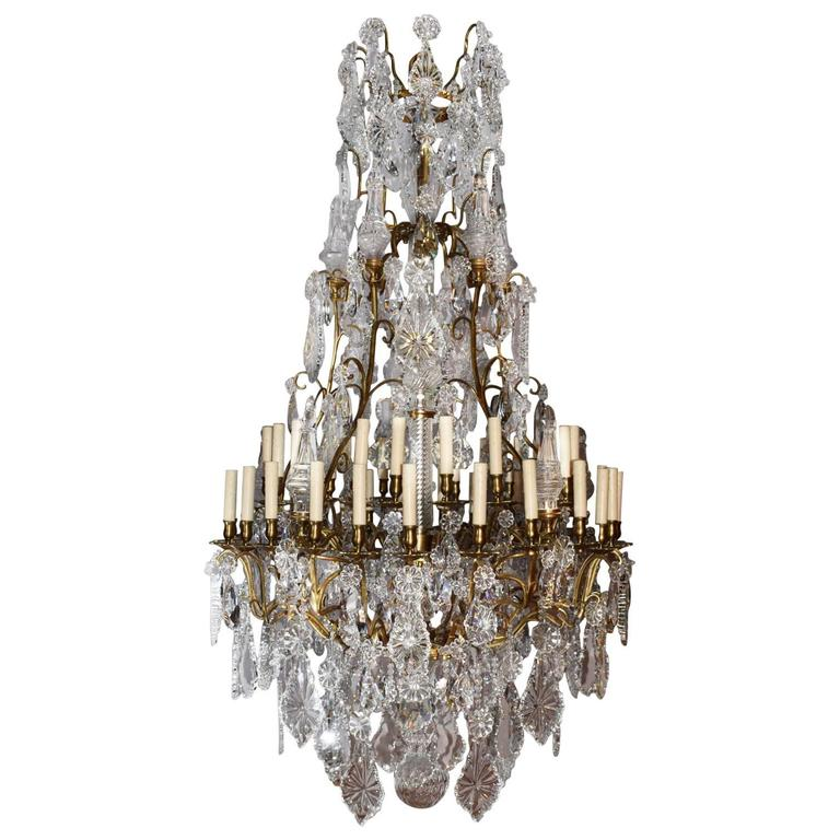 Antique Chandelier, Crystal - Antique Chandelier With Crystal Bowl At 1stdibs