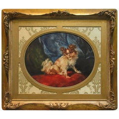"""Le Petite Favori"" Watercolor, After Jean-Baptiste Huet, 19th Century"