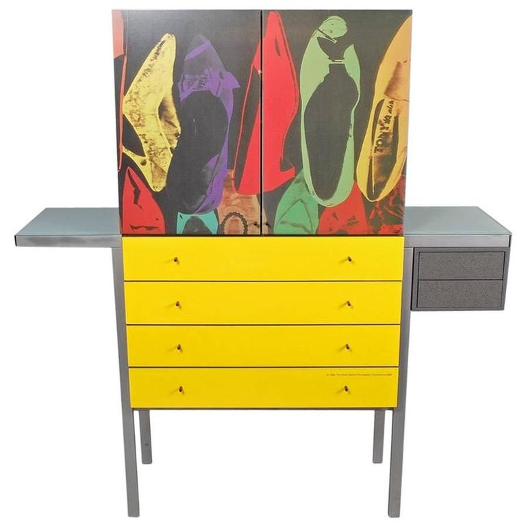 Andy warhol shoes pop art cabinet for sale at 1stdibs for Pop furniture bewertung