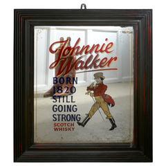 Rare Jonnie Walker Whiskey Advertising Mirror, Pub Mirror