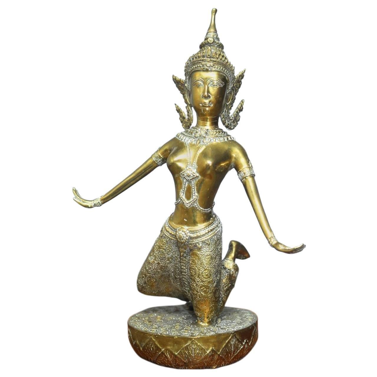 Thai Gilt Bronze Buddhist Figure of Khon Dancer