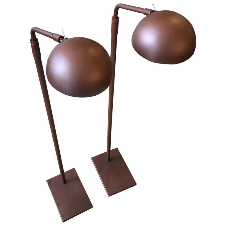 Pair of Robert Sonneman for Kovacs Floor Lamps