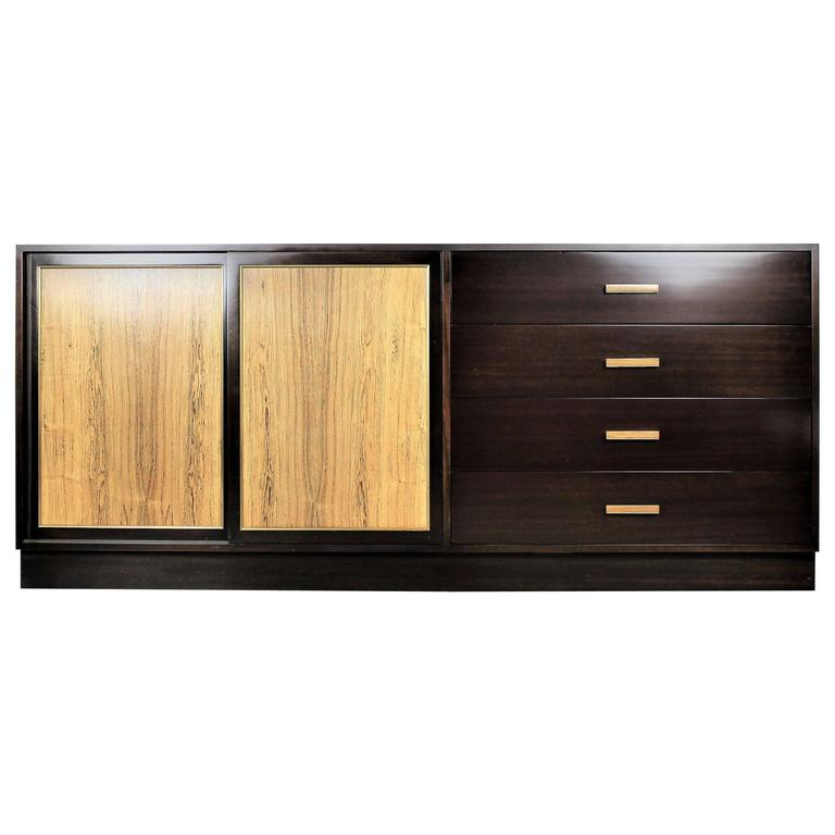 Large Chest by Harvey Probber in Dark Mahogany and Rosewood, 1960s