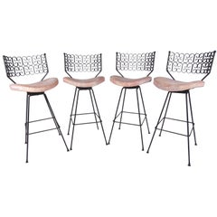 "Mid-Century Arthur Umanoff ""Granada"" Swivel Bar Stools for Boyeur Scott"