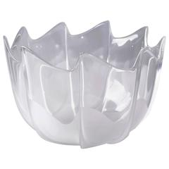 Original Rosenthal Scalloped Frosted Crystal Glass Serving Bowl by Studio-Linie