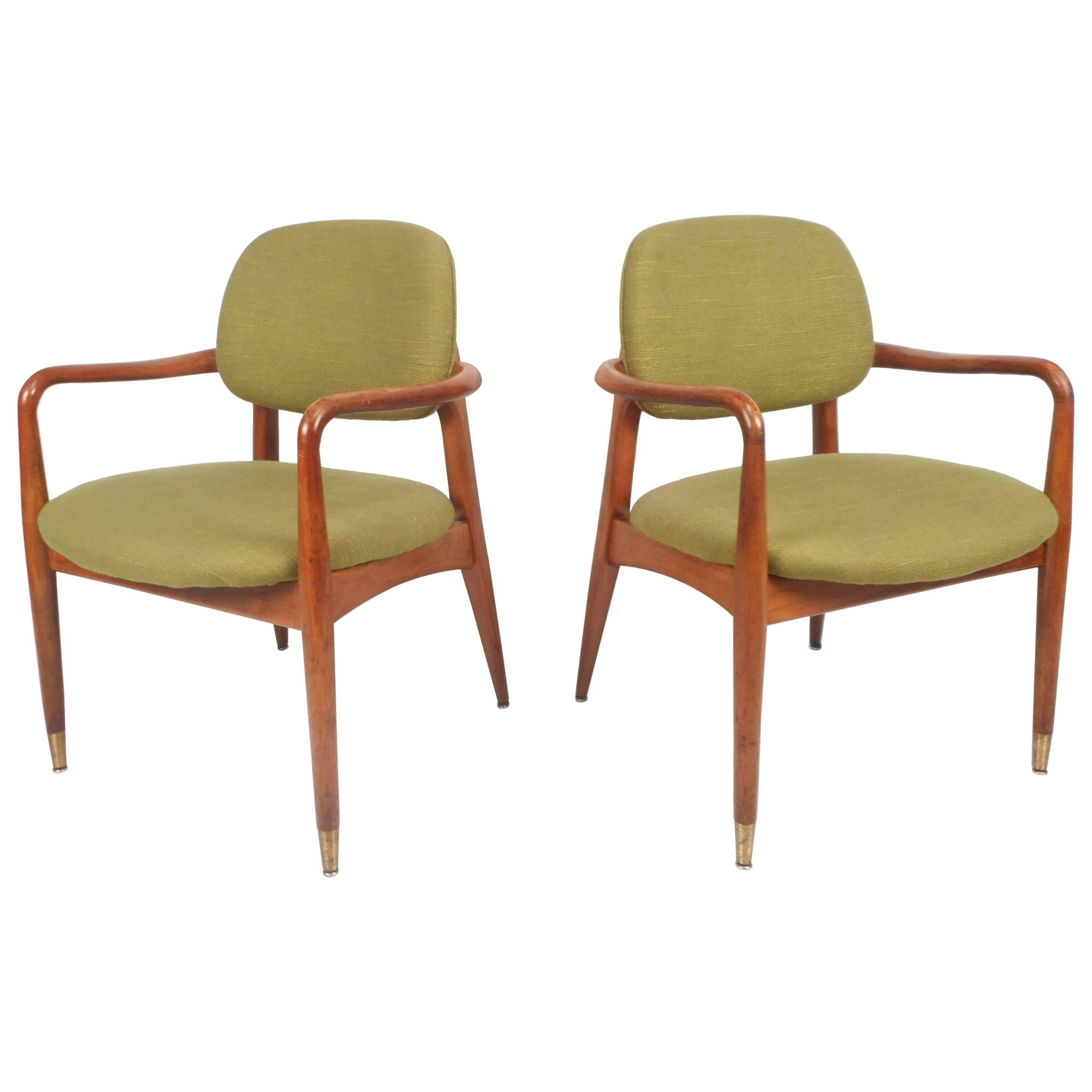 Unique Pair of Danish Mid-Century Modern Armchairs