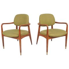Unique Pair of Danish Mid-Century Modern Armchairs