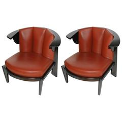 Pair of Frank Lloyd  Wright Slipper Chairs for Casina, circa 1989