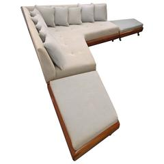Awesome Adrian Pearsall Boomerang L-Sofa Ottoman Set