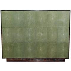 Large Three Drawers Shagreen Commode