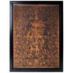 Hunting Tapestry in Frame