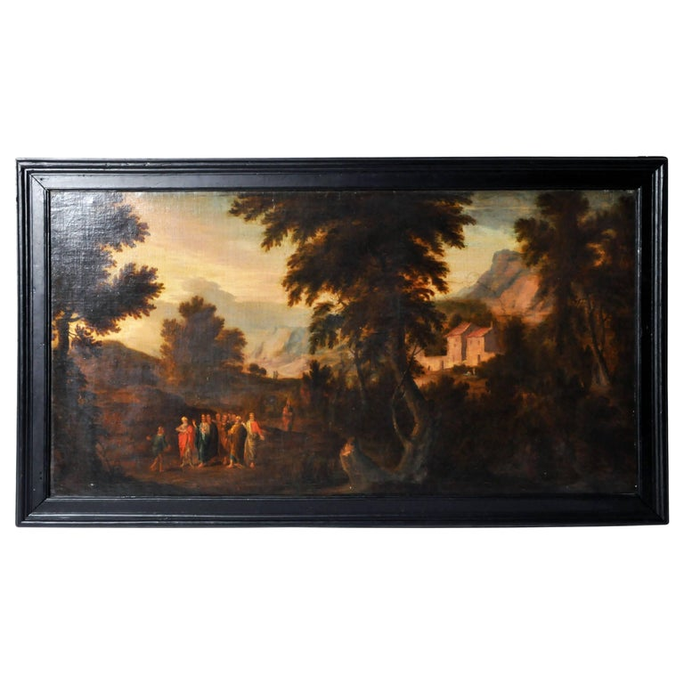 """Flemish Painting of """"Pastoral Scene"""" For Sale"""