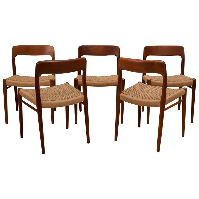 Danish Teak Niels Moller Dining Chairs 75 For Sale At 1stdibs