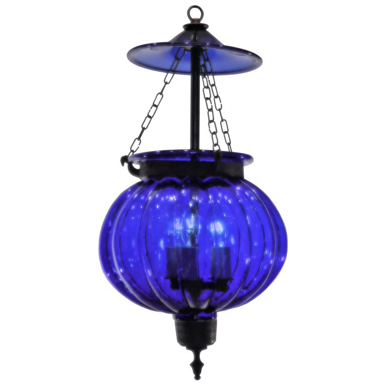 Homefurniturelightinglanterns Cobalt Blue Pumpkin Lantern For