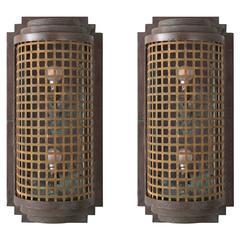 Art Deco Copper Wall Sconce, circa 1930
