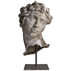 Plaster Sculpture of the Head of David, circa 1920