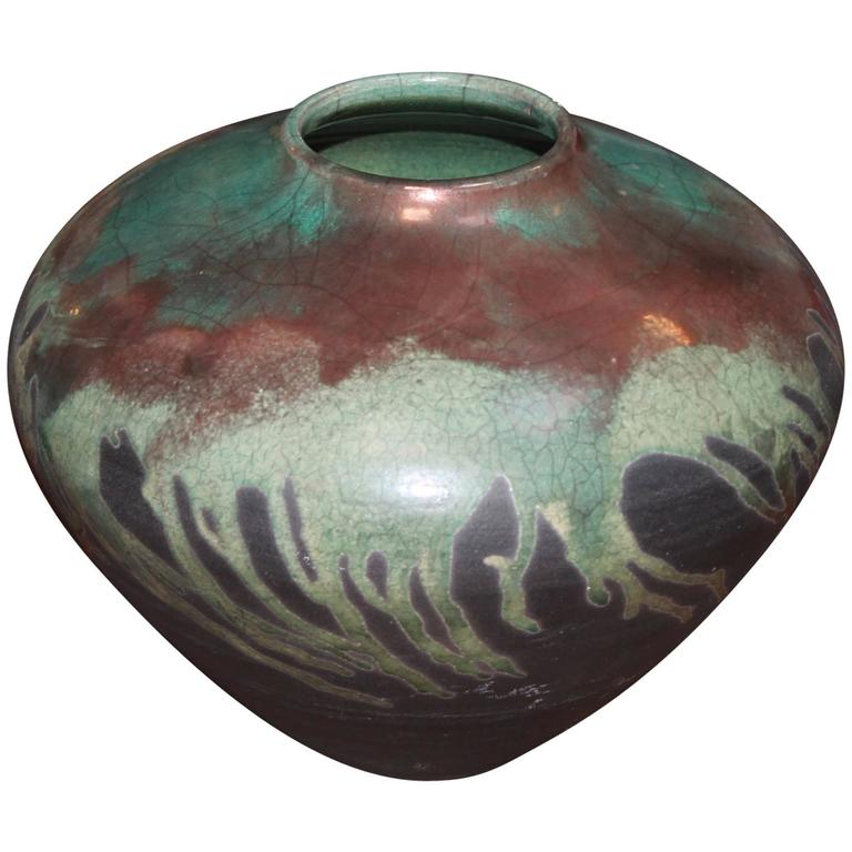 Modern raku decorative bowl at 1stdibs for Modern decorative objects
