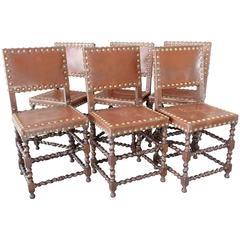 Furniture Antique Oak Barley Twist Chairs A Pair Cheap Sales 50%