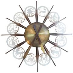 Zodiac Themed Wall Clock