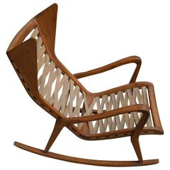 Italian Rocking Chair designed by Studio Tecnico Cassina, Milano, 1955